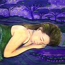 "Girl in Landscape 5 by Belinda ""BillyLee"" NYE (Printmaker)"