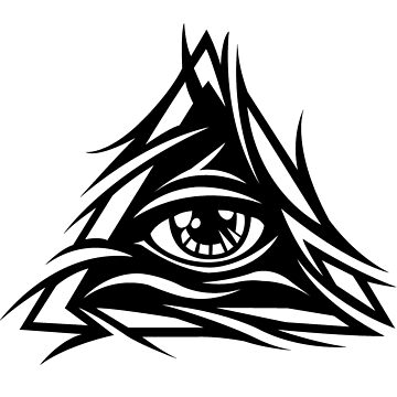 Illuminati Black - Trippy - Simple by kibo