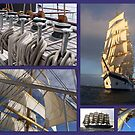 Sailing collage by Nancy Richard