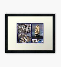 Sailing collage Framed Print