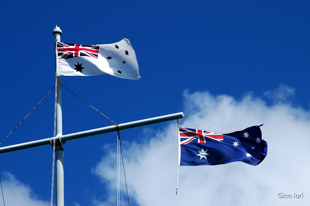 Aussie Flags by Gino Iori