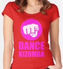 Dance Kizomba - Logo pink Women's Fitted Scoop T-Shirt
