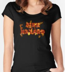Flaming Fire Hazard Women's Fitted Scoop T-Shirt