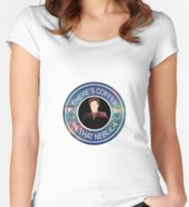 There's Coffee In That Nebula Women's Fitted Scoop T-Shirt