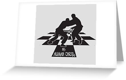 Bjj Human Chess Bjj Jiu Jitsu Mma Greeting Cards By