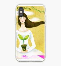 Wind Girl iPhone Case