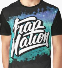 Trap Nation Faded Space (Blue) Graphic T-Shirt