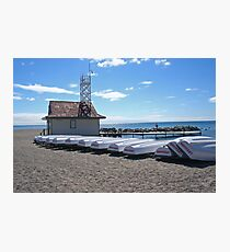 Boats on a beach Photographic Print