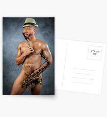Groß auf Instrumenten Postkarten