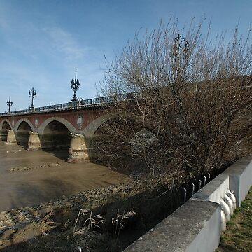 Pont De Pierre, Bordeaux, France, Europe 2012 by muz2142