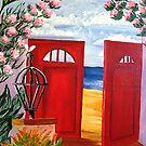 A Red Gate to the Beach by WhiteDove Studio kj gordon