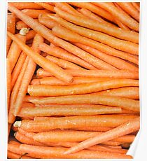 Carrots freshly dug and ready for sale Poster
