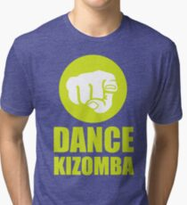 Dance Kizomba - Logo yellow Tri-blend T-Shirt