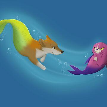 Mercorgi and Catfish by flashfox