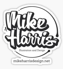 Mike Harris Logo and Web Address Sticker