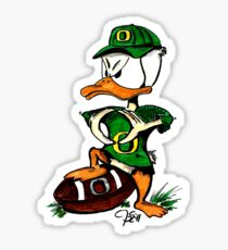 Oregon U of O Duck Making 'O' with Wings Sticker