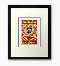 Pulp Faction - Vincent Framed Print