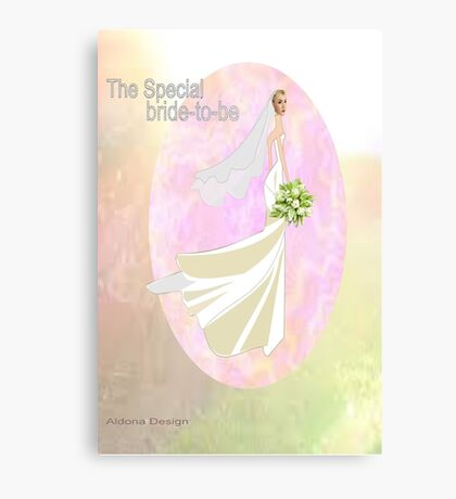Bride to be  & flowers (5064 views) Canvas Print