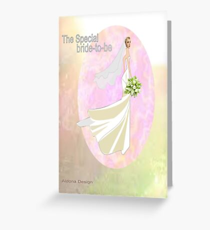Bride to be  & flowers (5033 views) Greeting Card