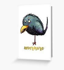 Creepy crow - Nevermore Greeting Card