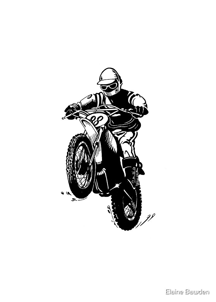 Yamaha Motocross racing by Elaine Bawden