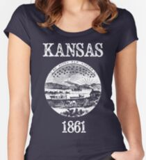 Kansas State Seal Women's Fitted Scoop T-Shirt