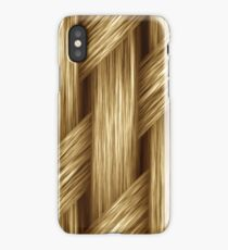 Knitted blond hair iPhone Case/Skin