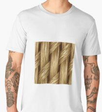 Knitted blond hair Men's Premium T-Shirt