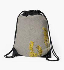 Textured Flower Drawstring Bag