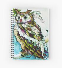 BLEEDING HEARTS OWL (CANDY FEATHER) Spiral Notebook