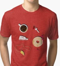 Twin Peaks in Objects Tri-blend T-Shirt