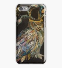 OWL WITH PEACOCK CROWN iPhone Case/Skin