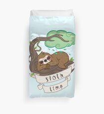 Be lazy Be Sloth ! Duvet Cover