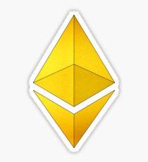 Pegatina Golden Ethereum
