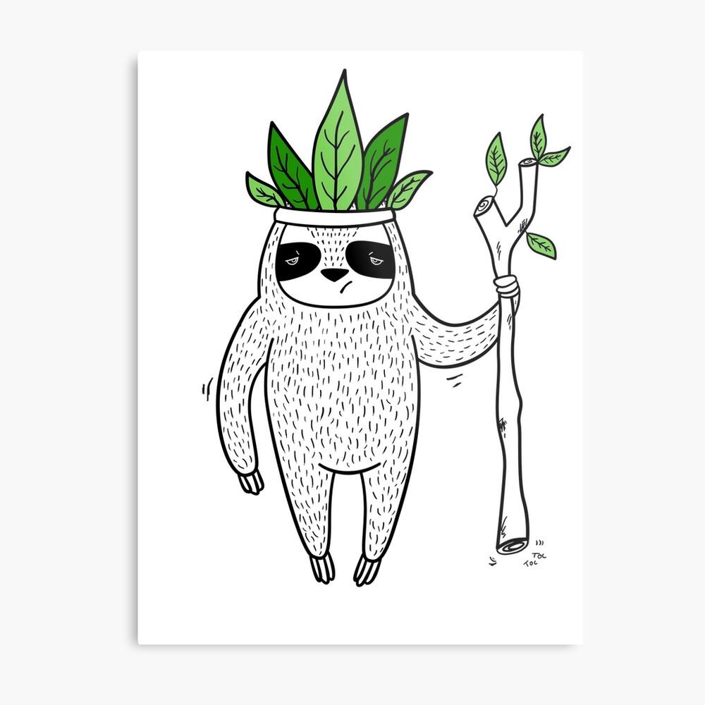 King of Sloth Metal Print