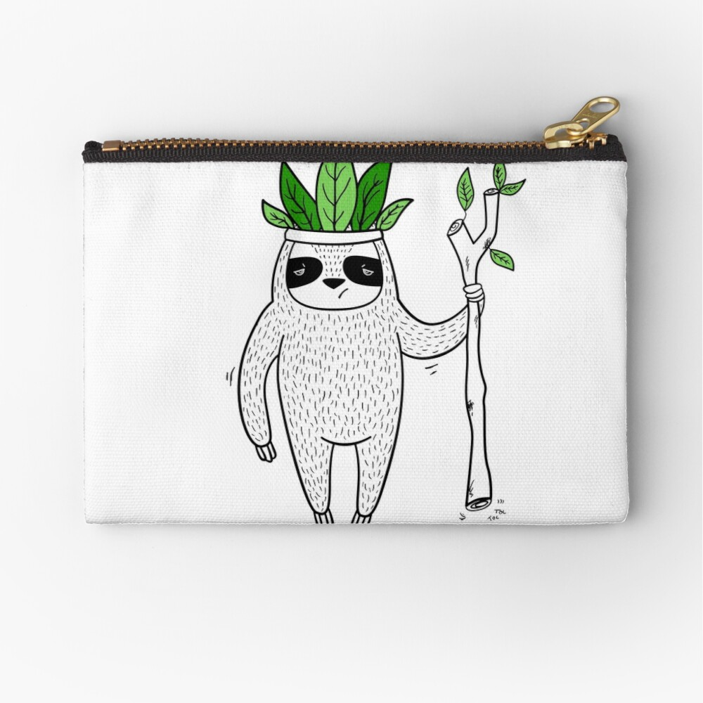 King of Sloth Zipper Pouch