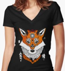 Fox Head Women's Fitted V-Neck T-Shirt