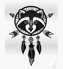 Raccoon Catcher Poster