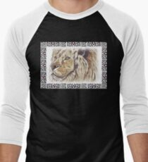 Lodge décor - African lion Men's Baseball ¾ T-Shirt
