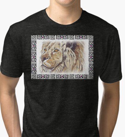 Lodge décor - African lion Tri-blend T-Shirt