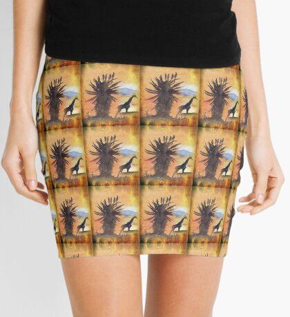 Lodge décor – African Bushveld scene Mini Skirt