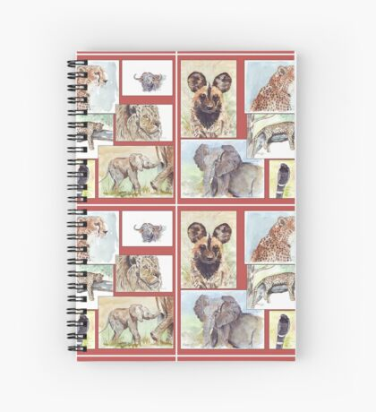 Lodge décor – South African wildlife collection Spiral Notebook