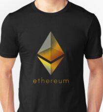 Corrupted Golden Ethereum Slim Fit T-Shirt