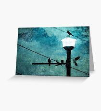 Birds On A Wire #1 Greeting Card