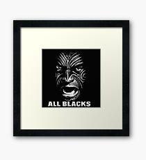 all blacks rugby Framed Print