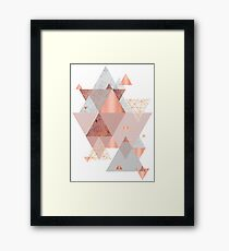 Blush Pink Geo Framed Print