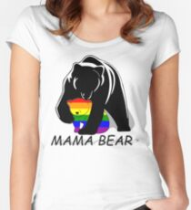 Gay Pride Mama Bear Women's Fitted Scoop T-Shirt