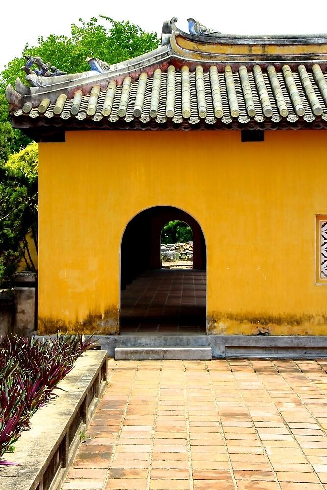 Glimpse of the Imperial City VI - Hue, Vietnam. by Tiffany Lenoir