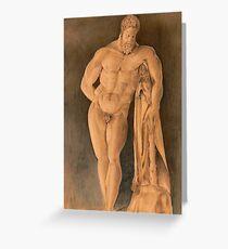 Drawing of Hercules Farnese Uffizi Greeting Card