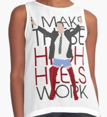 I MAKE THESE HIGH HEELS WORK-Kinky Boots Brendon Urie Contrast Tank